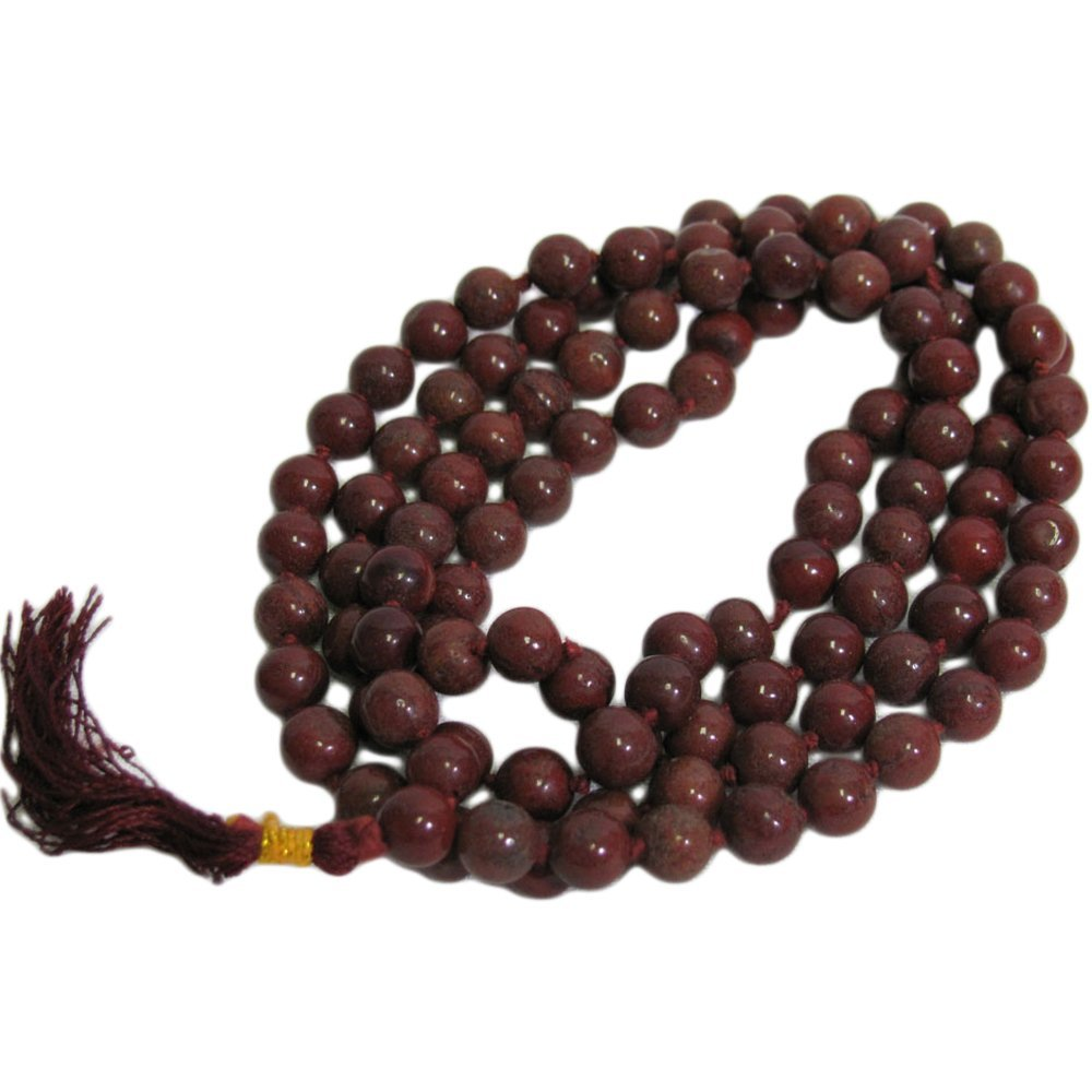 108 Bead Red Jasper Yoga Meditation Chakra Prayer Mala Bead Necklace - Ambali Fashion