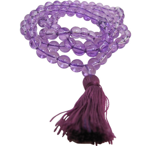 Burgundy Chakra Yoga Meditation Nirvana Prayer Mala Crystal Bead Necklace - Ambali Fashion
