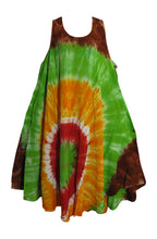 Women's Bohemian Tie-Dye Plus Sleeveless Sun Summer Beach Dress - Ambali Fashion