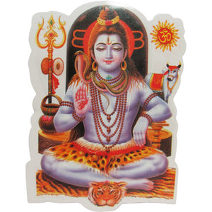 Hindu God SHIVA Yoga Meditation Art Decal Sticker - Ambali Fashion