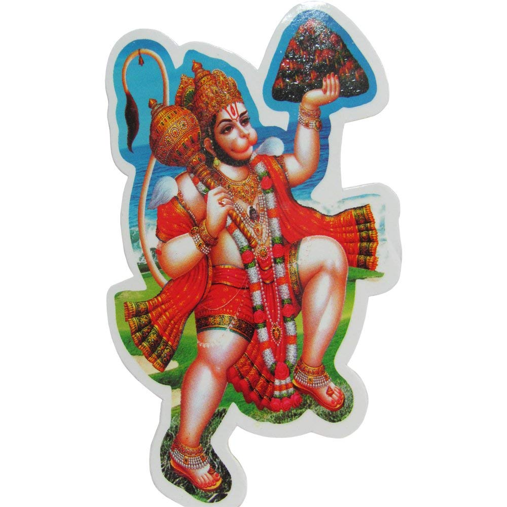 Shri Hanuman Hindu God Yoga Meditation Art Decal Sticker - Ambali Fashion