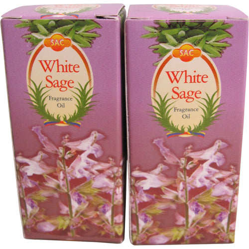 SAC White Sage Fragrance Oil - 10 ml (1/3 Fl. Oz), Set of 2 - Ambali Fashion