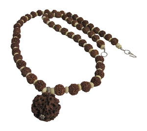 Handmade Vintage Tibetan 6 Face Rudraksha Seed Mala Prayer Bead Necklace #14 - Ambali Fashion