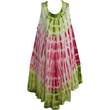 Indian Tie-Dye Embroidered Sleeveless Caftan Boho Sundress Bina - Ambali Fashion