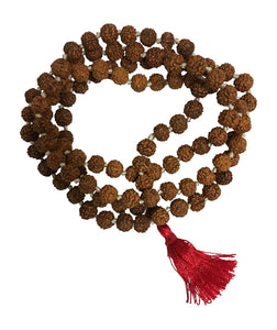 Om Namah Shivay Rudraksha 108ct 6mm Tibetan Prayer Beads Mala Rosary - Ambali Fashion