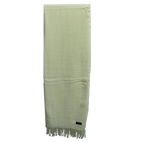 Silky Soft Indian Jamwar Ivory Pashmina Scarf Wrap Shawl Muffler - Ambali Fashion