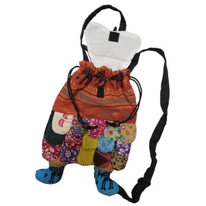 Handmade Sling Bag Woven Patchwork Owl Hippie Cute Backpack Assorted - Ambali Fashion
