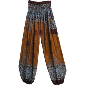 Indian Bohemian Gypsy Mandala Print Yoga Harem Pants THNONA9 - Ambali Fashion