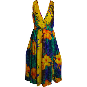 Missy Bohemian Bright Sleeveless Tank Long Floral Sundress Muna - Ambali Fashion