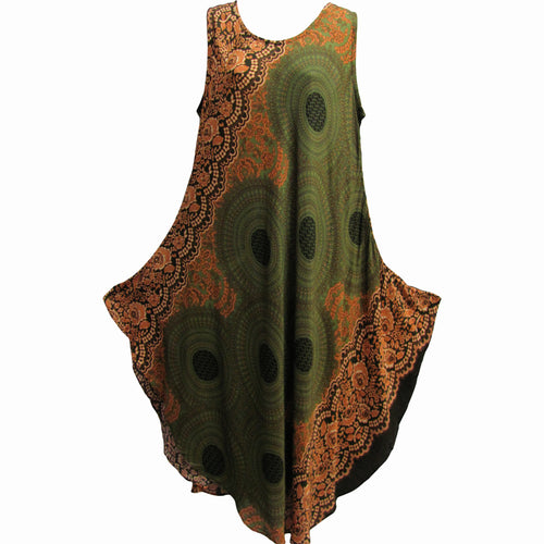 Missy & Plus Sleeveless Mandala Print Long Cotton Sundress THNONA3 - Ambali Fashion