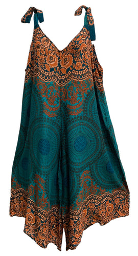 Boho Cotton Mandala Ethnic Print Harem Jumpsuit Palazzo Jumper - Ambali Fashion