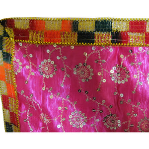 "Indian Yoga Meditation Shimmer Sequin Silk Square Prayer Altar Cloth (25"" x 25"") - Ambali Fashion"