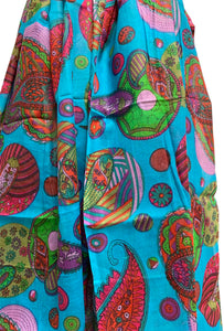 Indian Cotton Multicolor Paisley Floral Bohemian Fashion Scarf Sarong - Ambali Fashion