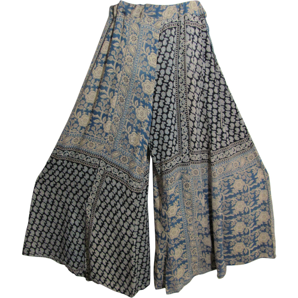 Missy Plus Indian Boho Ethnic Paisley Print Palazzo Long Wide Leg Pants - Ambali Fashion