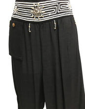 Bohemian Hippie Gypsy Embroidered Cotton Beaded Waist Yoga Harem Pants - Ambali Fashion