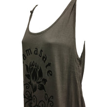 Namaste Yoga Lotus T-Shirt Cami Tank Top Tunic Blouse - Ambali Fashion