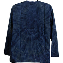 Bohemian Yoga Indian Cotton Navy Blue Tie-Dye Mandarin Collar Mens Tunic Shirt - Ambali Fashion