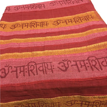 Ribbed Handloomed Cotton Om Namah Shivay Queen Size Bedspread Tapestry - Ambali Fashion