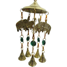 Beaded Elephant Brass Bell Yoga Zen Meditation Harmony Hanging Wind Chime - Ambali Fashion