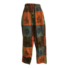 Mens Stonewashed Cotton Bohemian Vintage Yoga Ethnic Print Patchwork Harem Pants #2 - Ambali Fashion
