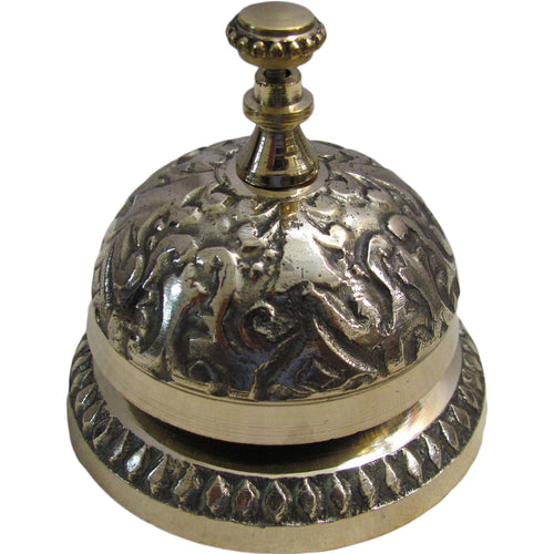 Indian Vintage Victorian Style Solid Brass Service Desk Bell - Ambali Fashion