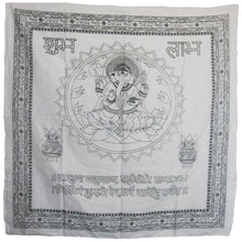"Indian Home Decor Ganesh Mantra Cotton Altar Cloth Tapestry (40""x 40"") - Ambali Fashion"