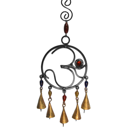 Om/Ohm Decorative Good Luck Home and Garden Bell Wind Chime w/ Beads - Ambali Fashion