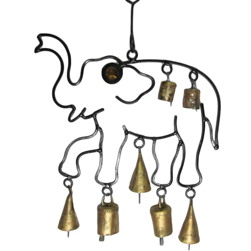 Indian Decorative Bell Home & Garden Good Luck Elephant Wind Chime - Ambali Fashion
