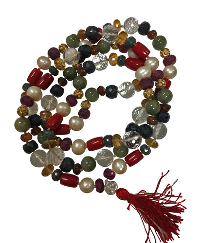 Nine Planet Navgraha Astrological Mala Yoga Prayer Bead Necklace - Ambali Fashion