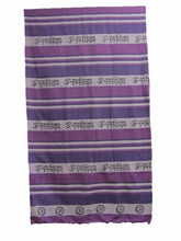 Purple Indian Cotton Om Namah Shivay Yoga Full Size Bedspread Tapestry - Ambali Fashion