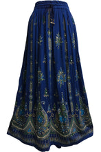 Women's Handmade Indian Sequin Crinkle Gypsy Broomstick Long Skirt - Ambali Fashion