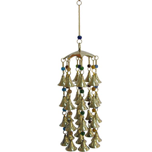 Beaded Brass Bell Yoga Zen Meditation Harmony Hanging Wind Chime - Ambali Fashion