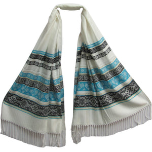 Soft Shimmering Indian Jamwar Silk Pashmina Scarf Wrap Shawl - Ambali Fashion