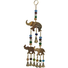 Brass Three Elephant Good Luck Home & Garden Seven Bell Feng Shui Wind Chime - Ambali Fashion