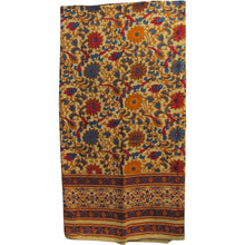 Indian Natural Tones Handloomed Bohemian Cotton Sunflower Handblock Print Bedspread Throw Tapestry - Ambali Fashion