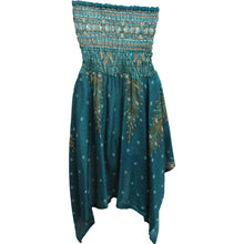 Halter Neck Peacock & Paisley Print Cotton Tube Short Sun Dress Skirt THNONA1 - Ambali Fashion