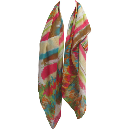 Lightweight Multicolor Rainbow Fashion Indian Square Scarf JK171 - Ambali Fashion