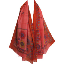 Long Mandala Print Red Indian Cotton Scarf Sarong Shawl JK259 - Ambali Fashion