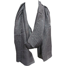 Sequined Lurex Shimmering Fashion Long Silver Scarf Shawl Wrap JK328 - Ambali Fashion