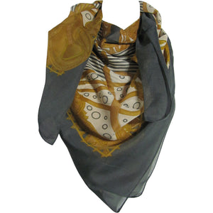 Multicolor Square Royal Horse Print Scarf Shawl JK84 - Ambali Fashion