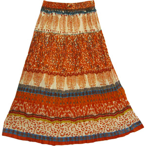 JK Indian Cotton Crinkle Broomstick Bohemian Long Gypsy Skirt - Ambali Fashion