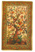 "Handwoven Cotton Tree of Life King Size Bedspread Throw (110""x 110"") - Ambali Fashion"