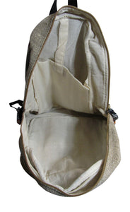 Heavy Duty Ethnic Handmade Large Multipocket Himalayan Hemp Backpack #9 - Ambali Fashion