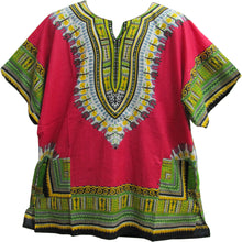 Unisex African Short Sleeve Dashiki Two Pocket Indian Cotton Tunic Shirt - Ambali Fashion