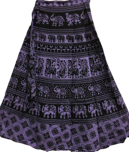 Bohemian Indian Ethnic Block Print Wrap Around Cotton Long Maxi Skirt Bagroo - Ambali Fashion