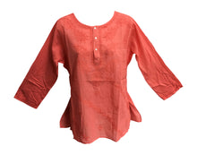 Classic Indian Gauze Cotton Embroidered Plus Sixties Long Sleeve Blouse Top - Ambali Fashion