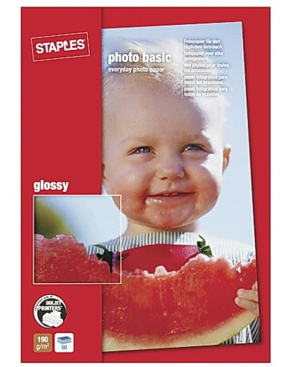 Fotopapper STAPLES Bas 10x15 gloss 50/FP