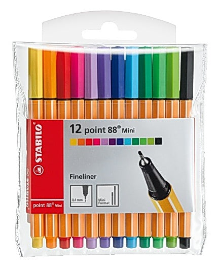Fineliner STABILO Point 88 mini (12)