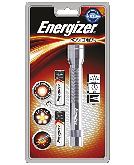 Ficklampa ENERGIZER Metall LED, 2 AA