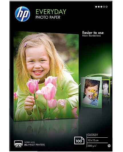 HP Everyday Photo Paper - Blank - 8 mil - 100 x
